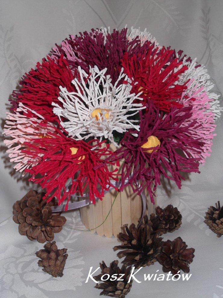 Kosz Kwiatow Czyli Papierowa Wiklina Krepina I In Na Stylowi Pl