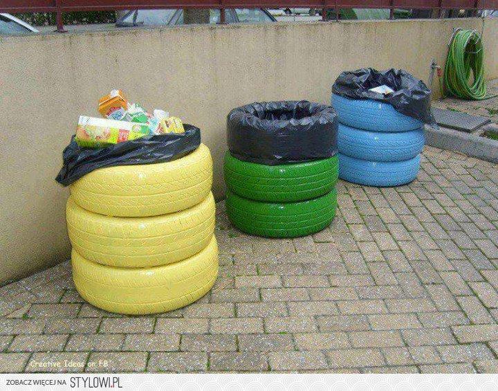 Kosze Na śmieci Ze Starych Opon Samochodowych Na Stylowi Pl