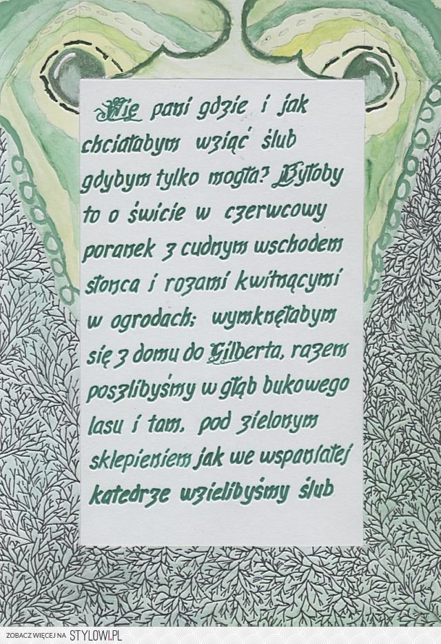 Cytaty Ani Z Zielonego Wzgórza Lucy Maud Montgomery Na