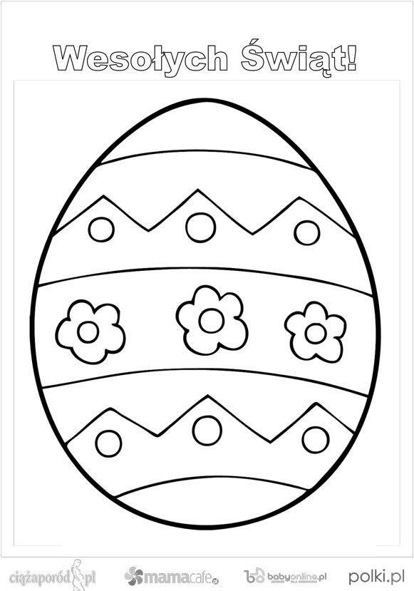 Wielkanocne Kolorowanki Pisanki Kolorowanki Dla Dziec Na Stylowi Pl