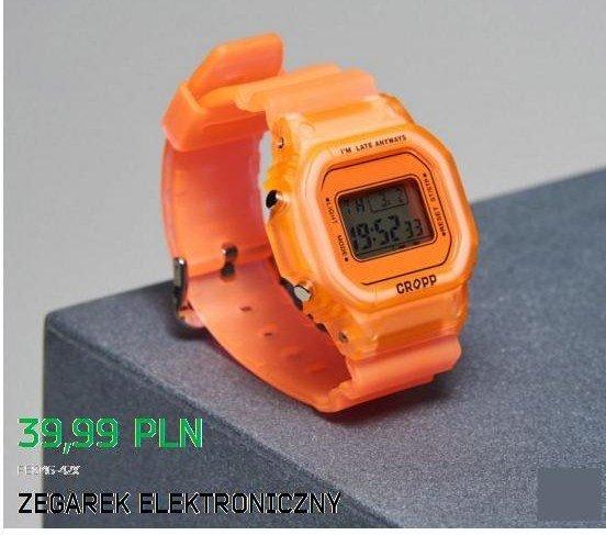 cropp zegarek elektroniczny pomarańczowy na Stylowi.pl