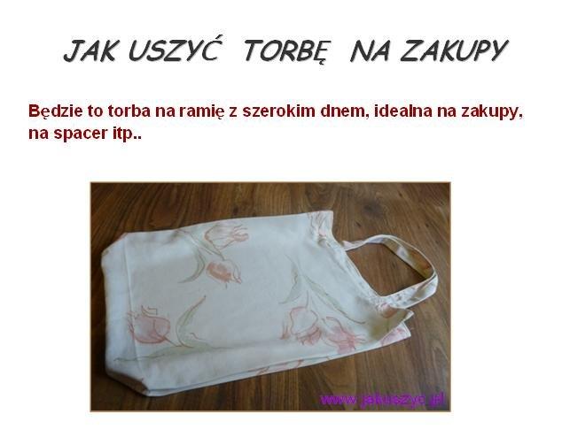 JAK USZYĆ TORBĘ NA ZAKUPY | jakuszyc.pl na Stylowi.pl