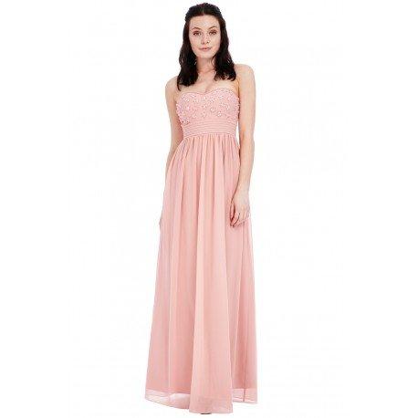 Ekskluzywna długa sukienka z szyfonu na wesele z ozdobn… na