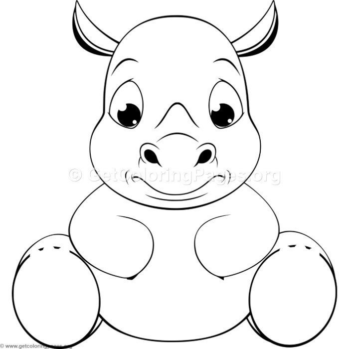 Funny Baby Rhino Coloring Pages Getcoloringpages Org Na Stylowi Pl